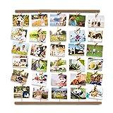 Uping Marco Fotos para Pared Colgar Fotos Pared con Pinzas, Decoración del Hogar Y Regalo (Color de Madera Retro)