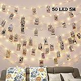 Clip Cadena de Luces LED,LECLSTAR 5m 50 LED Fotoclips Guirnalda de Luces,ideal para Hogar, Pared, Navidad, Fiesta, Boda,Decoraciones de...