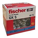 Fischer 542459tacos con tornillo para pladur GX, Gris, Juego de 40unidades)