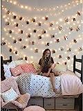 Clip Cadena de Luces LED, LECLSTAR LED Fotoclips Guirnalda de Luces,ideal para Hogar, Pared, Navidad, Fiesta, Boda,Decoraciones de...