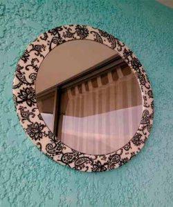 Como hacer un marco de tela para un espejos