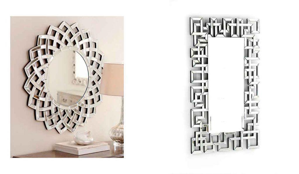 espejos de color plata