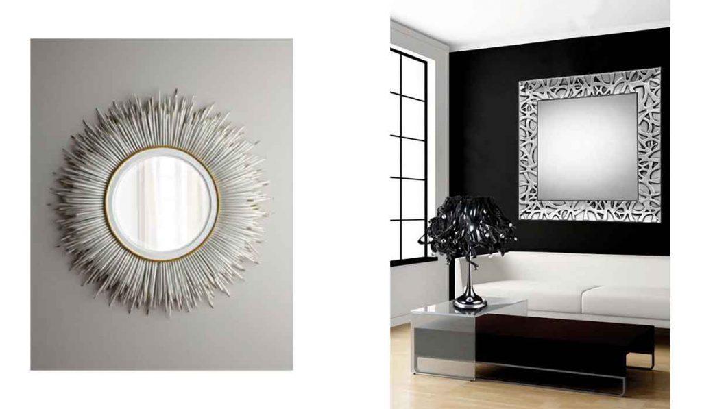 Espejos plateados baratos especializados en espejos - Espejos con marco plateado ...