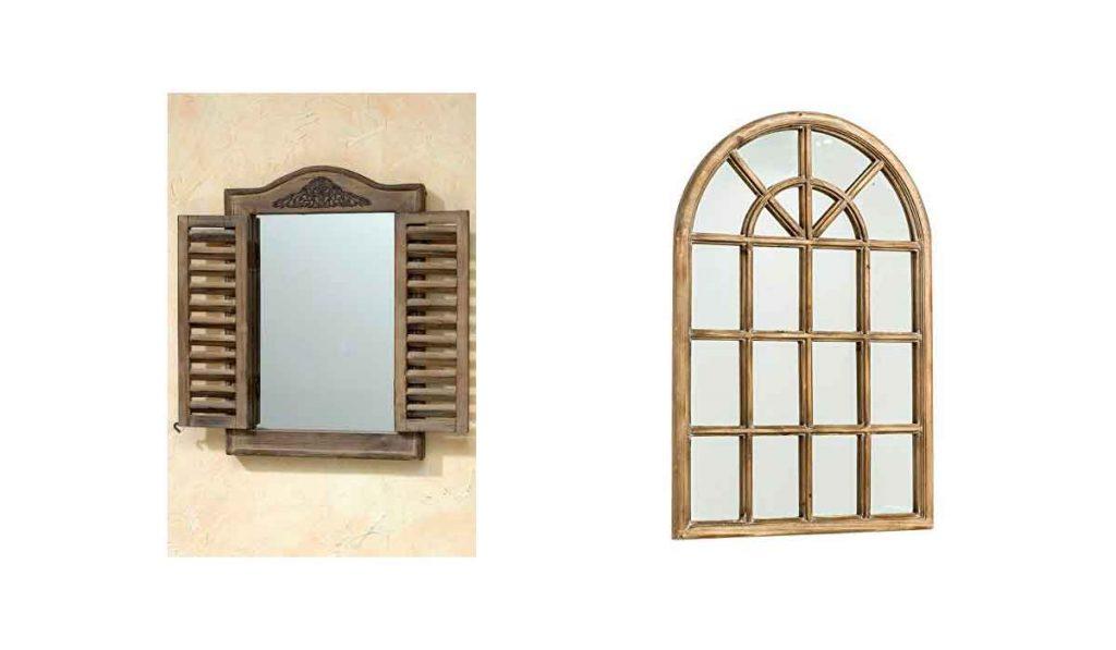 espejo estilo ventana francesa