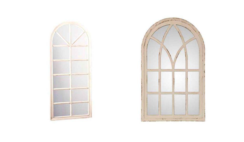 espejo estilo ventana inglesa