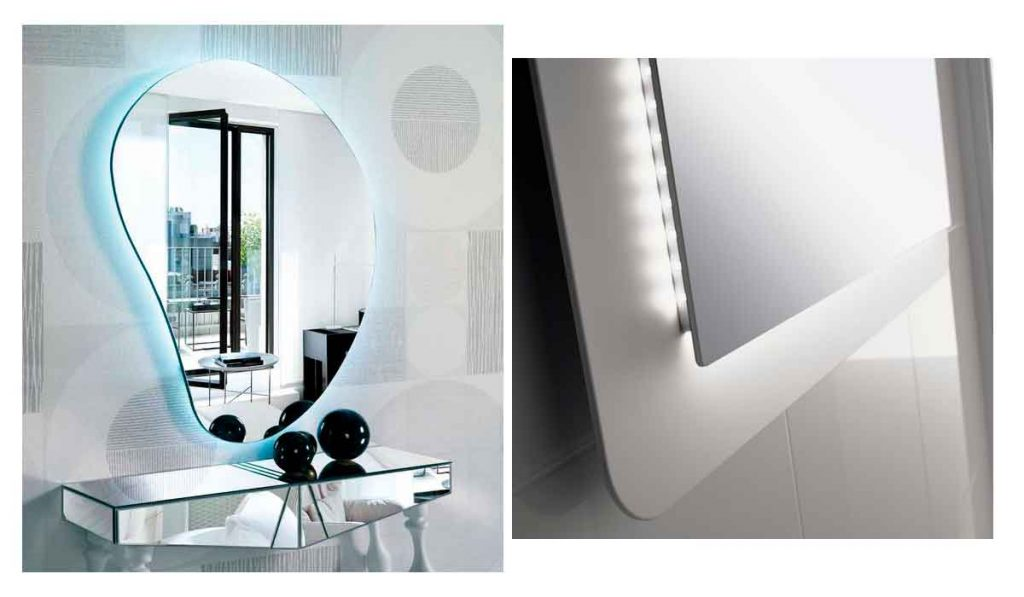 espejo moderno con luz led