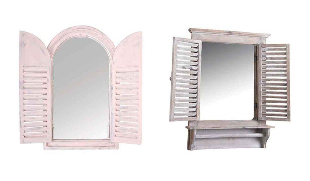 espejos de ventana con puertas