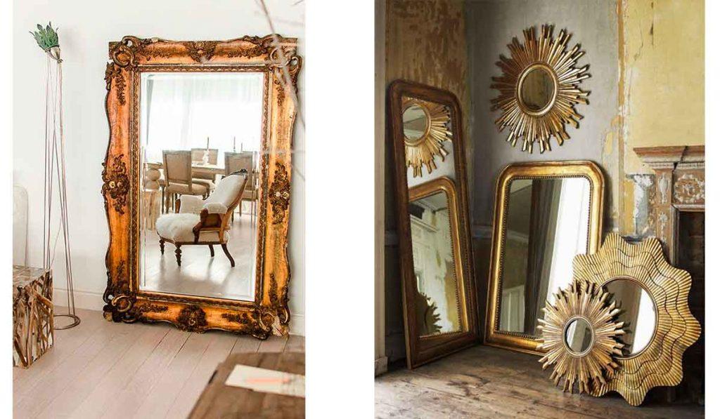 Espejos dorados baratos especializados en espejos for Espejos de pared baratos online