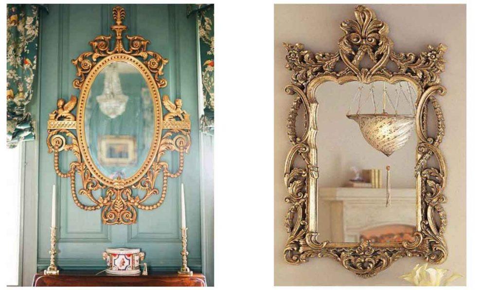 espejos dorados para pared