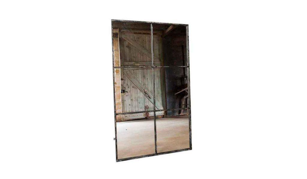 espejo estilo ventana industrial
