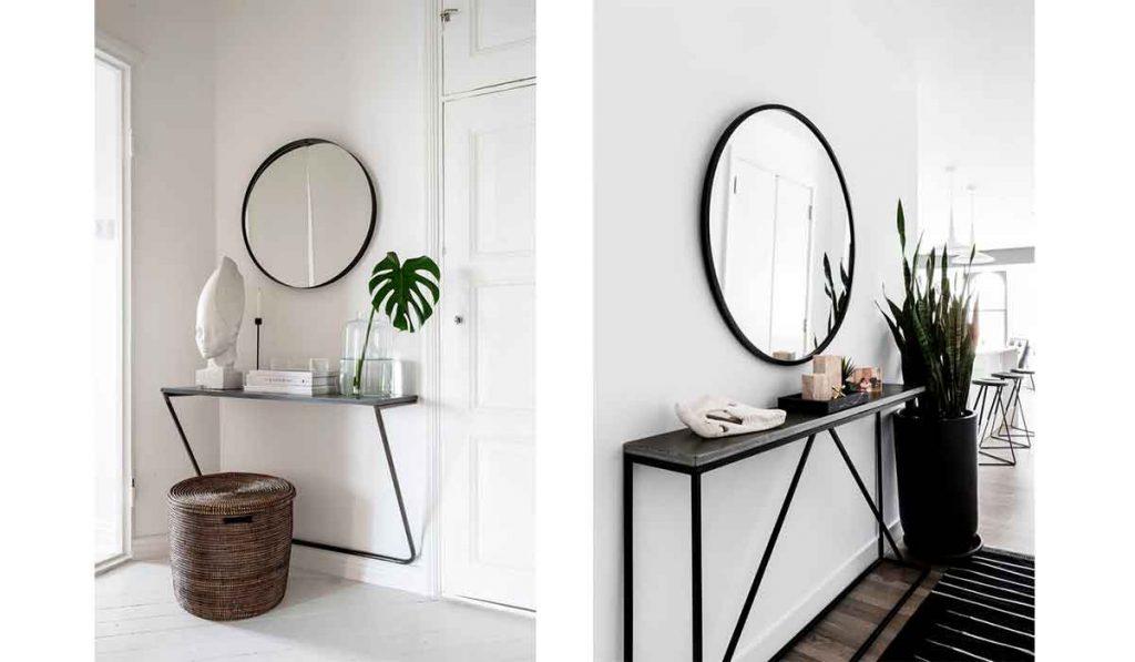 espejos de recibidor modernos